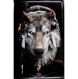 WOLF INDIÁN. 2 -  Metal Sign.  20X30.cm. fém tábla kép