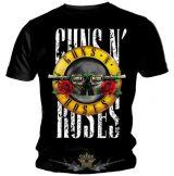 Guns N Roses - Classic Vintage Logo Mens Black T Shirt. zenekaros póló