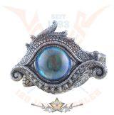 Dragoneye box - üvegszemmel, ezüst színű. SÁRKÁNY szemek. asztali dísz.