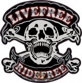 LIVE FREE- RIDE FREE.  felvarró.