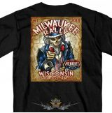 MILWAUKEE BIKER RALLY - WISCONSIN - 2018.  T-Shirt.  motoros póló