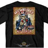 MILWAUKEE BIKER RALLY - WISCONSIN - 2018.  T-Shirt.  motoros póló