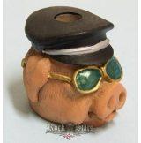 Biker Butt Headz - Motoros disznó.  cigaretta tartó, füst elnyelő figura, toll és ceruzatartó.
