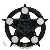 Pentagram Gothic Wiccan Tealight Holder. NEM2273  illatosító,  mécses tartó
