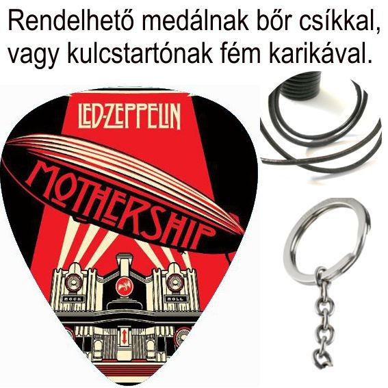 LED ZEPPELIN - MOTHERSHIP. pengető nyaklánc - Shark n Roll - Rock ... b961c5f19b