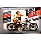 BIKER - BEST GARAGE FOR MOTORCYCLES.  20X30.cm. fém tábla kép