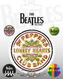 THE BEATLES (SGT. PEPPER). Vinyl stickers. matrica szett