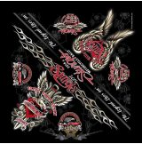 Dagger Heart Bandana - Official 76th Sturgis Motorcycle Rally. .USA.  vászon kendő
