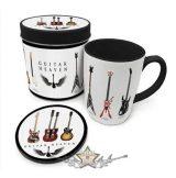 Guitar Heaven - Legendary Guitars Mug & Coaster In Tin.  fémdobozos bögre