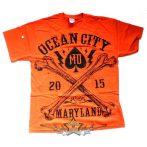 AKCIÓ ! OCEAN CITY - MARYLAND. 2015 - USA IMPORT.Férfi Rövid Ujjú Motoros Póló
