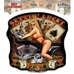 Hot Leathers - Gettin Lucky Lady - Sticker. Vinyl stickers. matrica szett