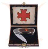 Knife with Templar cross - Kés templomos kereszttel.  hobby kés, bicska, tőr, dísztárgy