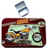 GARAGE - FULL SERVICE. fém doboz, cigi, dohány, apró cikk tartó