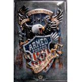 ARMED FORCES -  Metal Sign.  20X30.cm. fém tábla kép