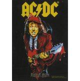 AC/DC - ANGUS GUITAR. TEXTILE POSTER. zenekaros zászló