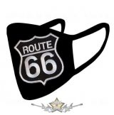 ROUTE 66 - Textil pamut kétfalas maszk.   maszk, védőmaszk