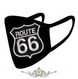ROUTE 66 - Textil pamut kétfalas maszk.   maszk, védőmaszk, kendő.