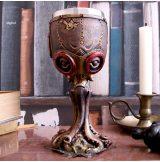 Steampunk - Mechanical Cephalopod Octopus Wine Glass Goblet 18.5cm.   fantasy dísz,kehely