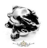 Koponya karmokkal - 2.design. skull ring.  Steinless Steel. gyűrű