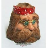 Biker Butt Headz - Hippi fazon.  cigaretta tartó, füst elnyelő figura, toll és ceruzatartó.