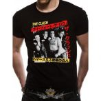 THE CLASH -  KANJI T-Shirt BLACK.  zenekaros  póló.