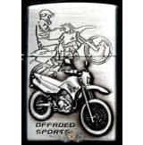 MOTOR CYCLE SILVER 1.  zippo fazonú öngyujtó