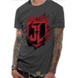 JUSTICE LEAGUE MOVIE -  SHIELD.  T-Shirt.  filmes  póló