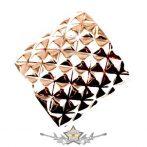 Piramis design - fém merev   karkötő, csuklópánt