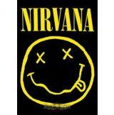 NIRVANA - Smiley TEXTILE POSTER. zenekaros zászló