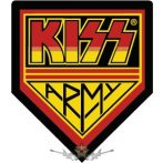 KISS - ARMY.  hímzett felvarró