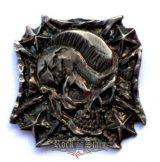 Iron skull,  fém motoros jelvény