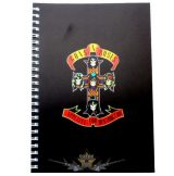 Guns N Roses  -  Logo A5 Wiro Notebook.   napló, notesz