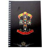 Guns N Roses  -  Logo A5 Wiro Notebook.   napló, notesz