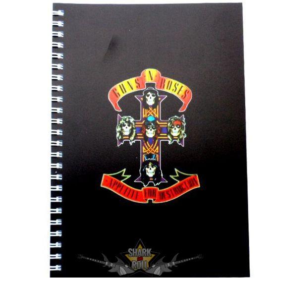 Guns N Roses - Logo A5 Wiro Notebook. napló 9c7b46ce03