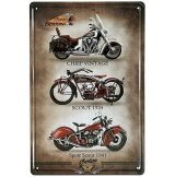BIKER - Indian Motorcycle Metal Wall Sign.  20X30.cm. fém tábla kép