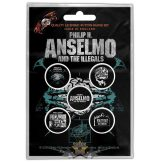 Philip H. Anselmo & The Illegals - Button Badge Pack.  Brain.   jelvényszett