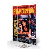 PULP FICTION (COVER) SMALL WOOD. wood. 40x59.cm. fa táblakép