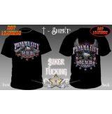 Hot Leathers - PANAMA CITY - MOTORCYCLE RALLY. USA T-Shirt.  motoros póló