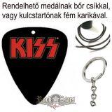 KISS - RED LOGO.  pengető nyaklánc