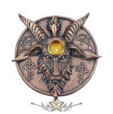 Baphomet's Prayer - Incense and Candle Holder 12.6cm. D5294S0. füstölőtartó, gyertyatartó