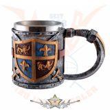 Medieval Crest tankard - Keresztes lovagok. 2731..  fantasy dísz,kehely