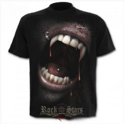 SPIRAL. GOTH FANGS - T-Shirt Black . gothic, fantasy póló