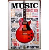 GUITAR MUSIC - KEEPS MY HEART.  20X30.cm. fém tábla kép