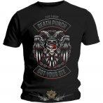 Five Finger Death Punch  - Biker Badge   zenekaros  póló.