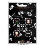 Marilyn Manson - Button Badge Pack.  Cross Logo.   jelvényszett
