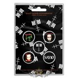 Marilyn Manson - Button Badge Pack.  Cross Logo.   jelvényszett
