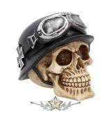 Iron Cross - Helmet and Goggles Biker Skull. K2762G6.  koponya figura