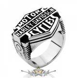 H.D. motor cycles.. Steinless Steel. gyűrű