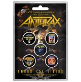 Anthrax - Button Badge Pack.  Among the Living.   jelvényszett