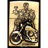 MOTOR CYCLE BRONZE 3.  zippo fazonú öngyujtó